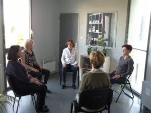Séance de sophrologie avec Martine Fournier