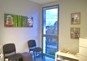 Salle d'attente du cabinet de sophrologie